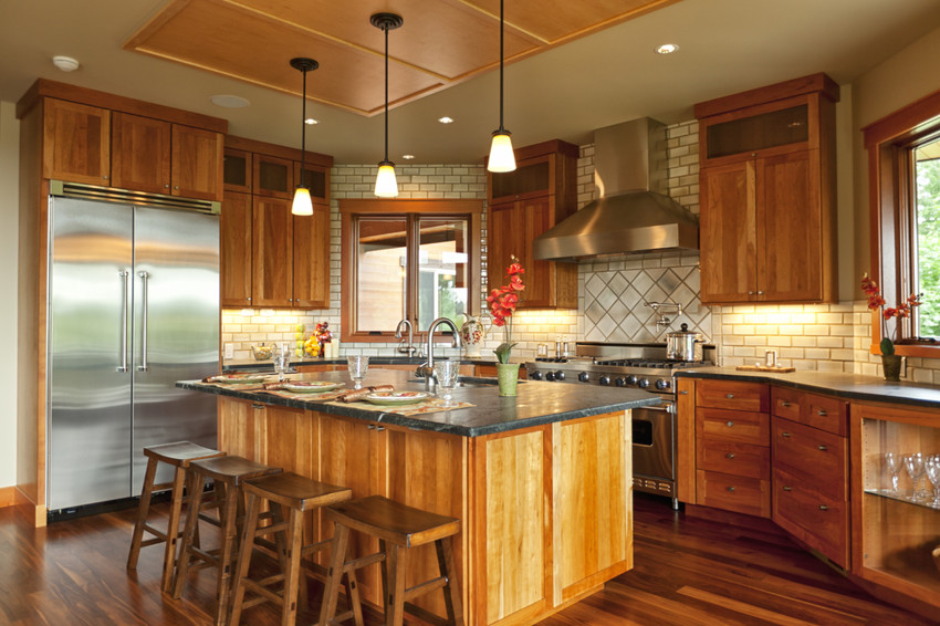 beautiful luxury dream kitchen with granite counters
